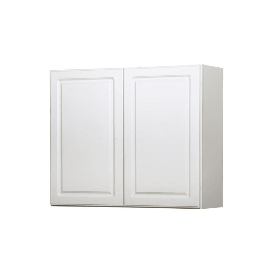 Kitchen Classics 30-in x 36-in x 12-in Concord White Double Door Kitchen Wall Cabinet