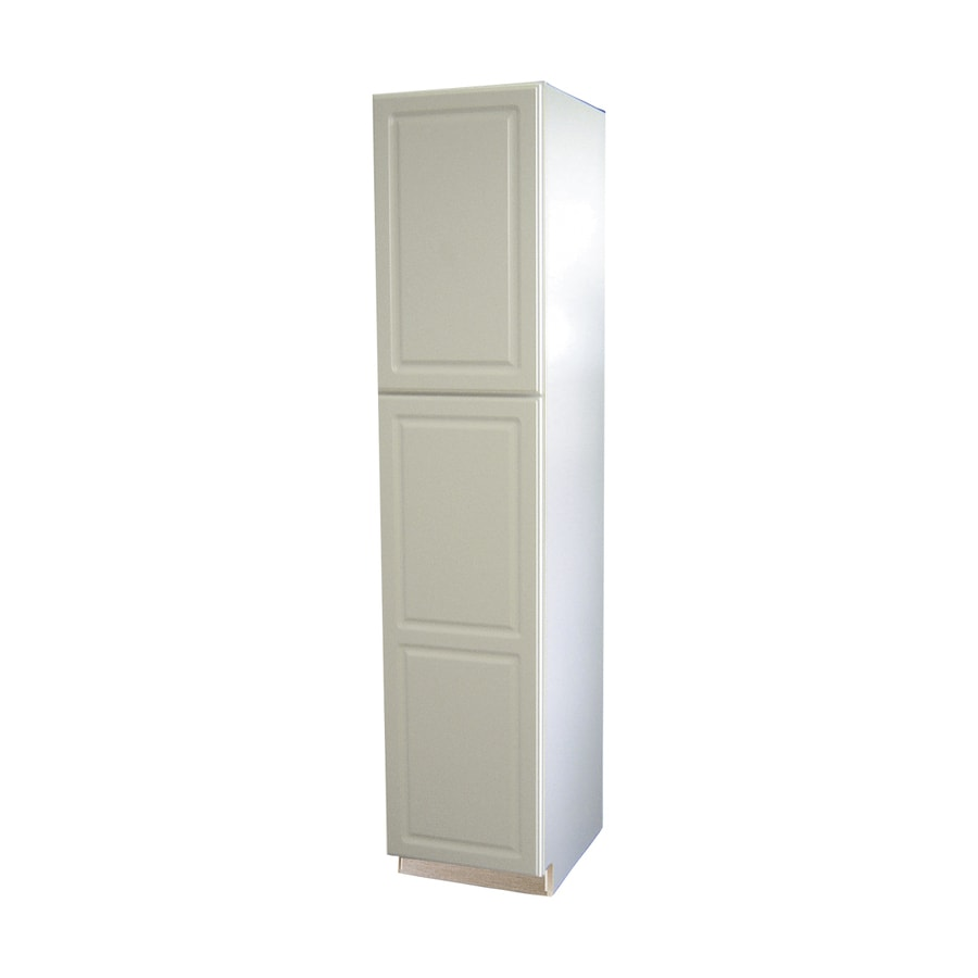 Shop diamond now concord 18 in w x 84 in h x d white door pantry cabinet at - White kitchen storage cabinet ...