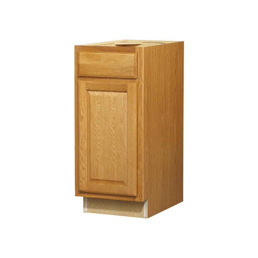 Diamond NOW Portland 15-in W x 35-in H x 23.75-in D Wheat Door and Drawer Base Cabinet