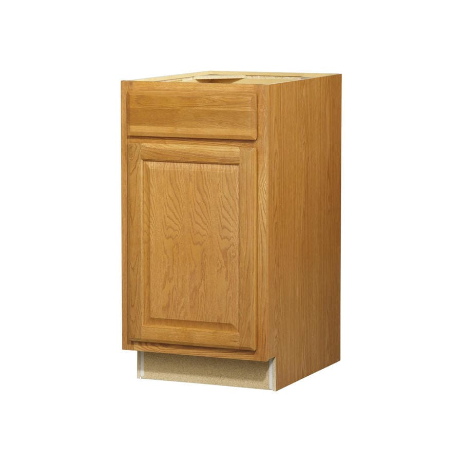 Diamond NOW Portland 18-in W x 35-in H x 23.75-in D Wheat Door and Drawer Base Cabinet