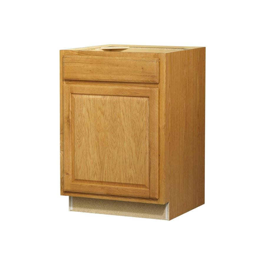 Kitchen Classics 35-in H x 24-in W x 24-in D Portland Oak Door and Drawer Base Cabinet
