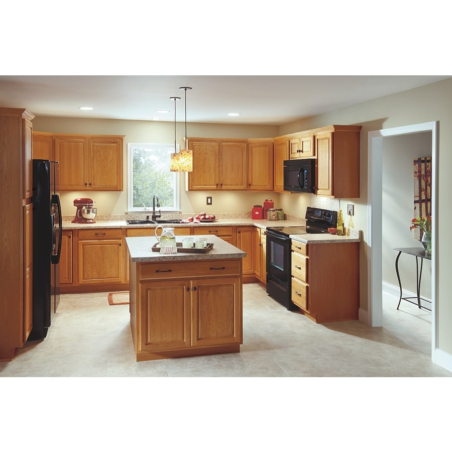 Kitchen Classics Portland 18 In W X 35 In H X 23 75 In D Wheat Drawer Base Cabinet In The Stock Kitchen Cabinets Department At Lowes Com