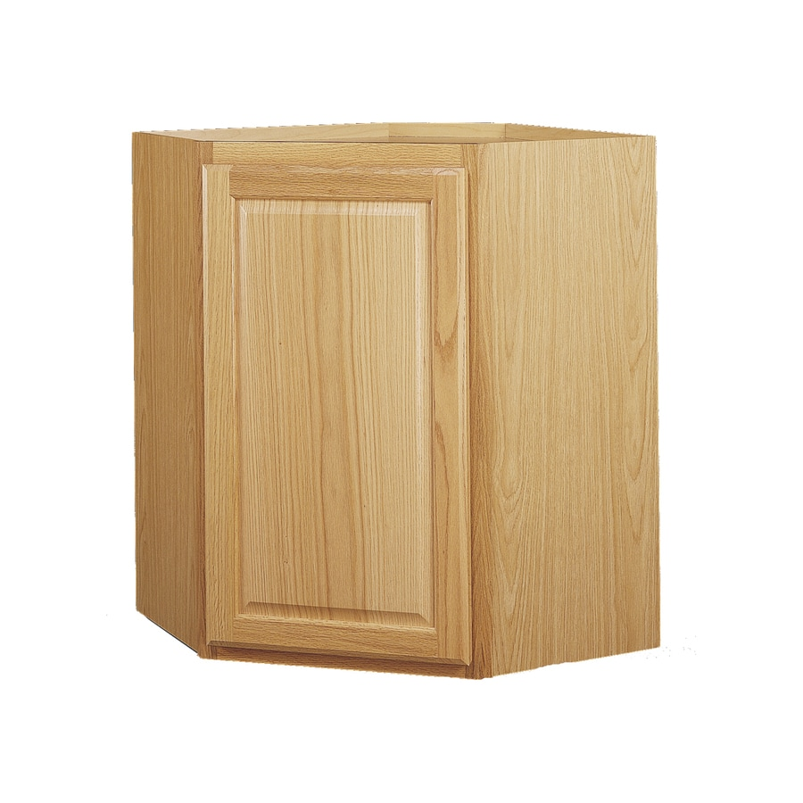 Diamond NOW Portland 24.0-in W x 30.0-in H x 12.0-in D Wheat Square Corner Wall Cabinet