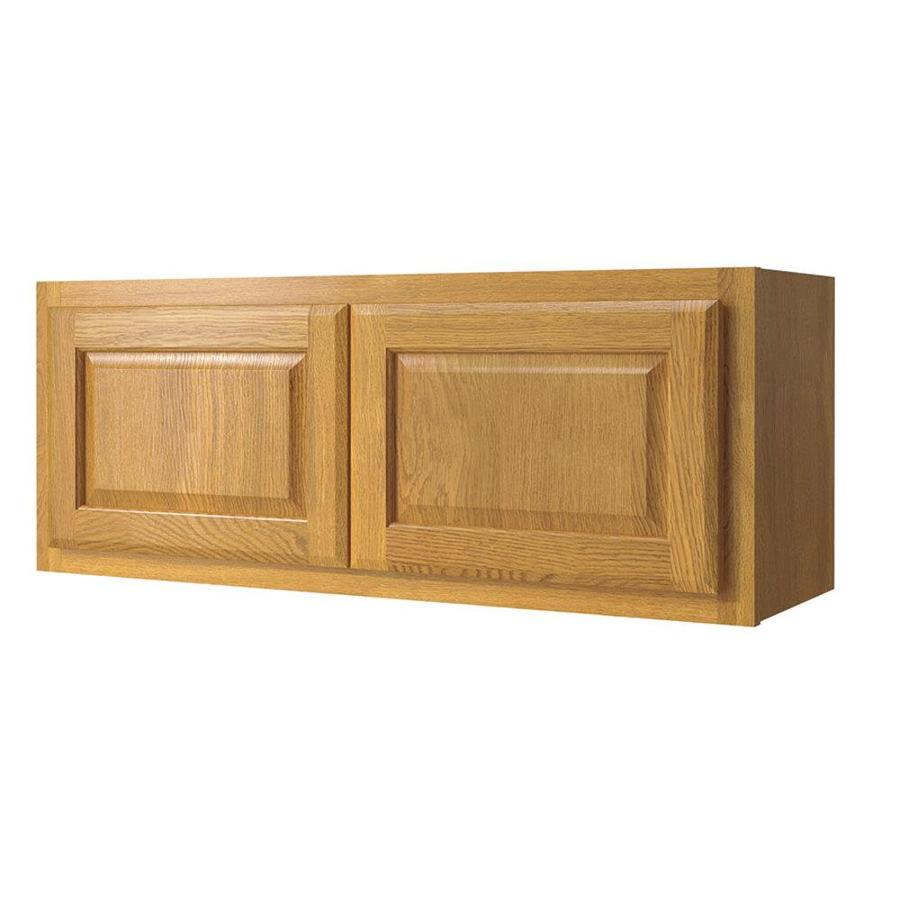 Diamond NOW Portland 36-in W x 14-in H x 12-in D Wheat Square Door Wall Cabinet