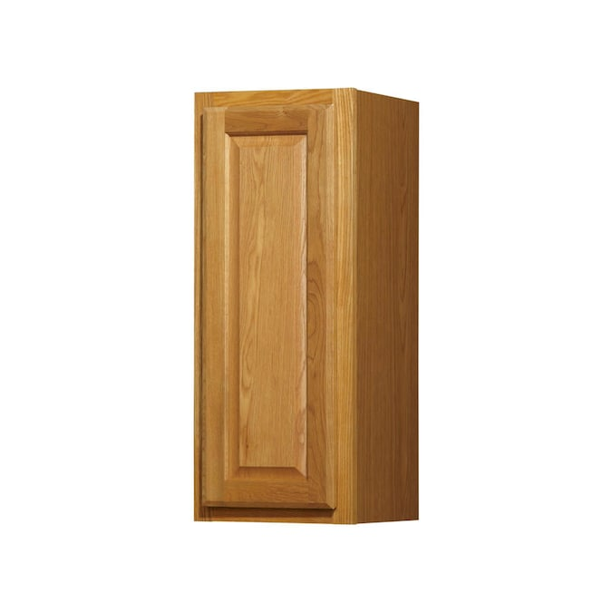 Diamond Now Portland 12 In W X 30 In H X 12 In D Wheat Door Wall Stock Cabinet In The Stock Kitchen Cabinets Department At Lowes Com