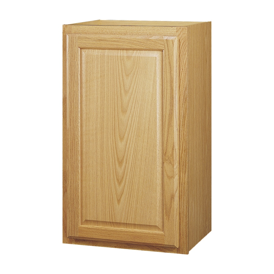 Diamond NOW Portland 15.0-in W x 30.0-in H x 12.0-in D Wheat Square Door Wall Cabinet