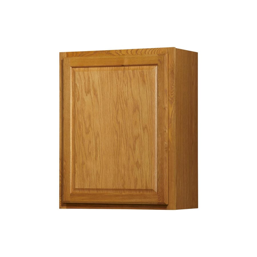 Diamond NOW Portland 24-in W x 30-in H x 12-in D Wheat Door Wall Cabinet