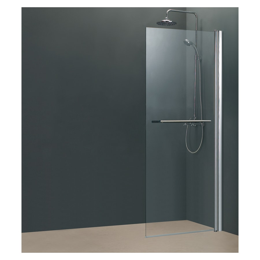 Shop Aciflex Polished Chrome Frameless Pivot Shower Door At Lowes
