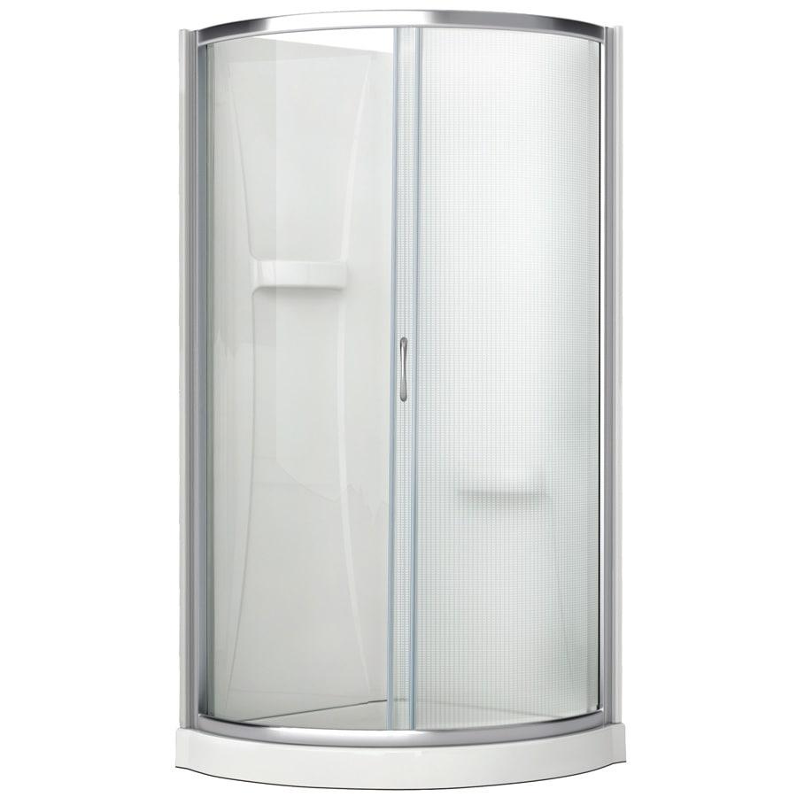 round shower kits corner. Aciflex 76 H x 31 W L Chrome Round Corner Shower Shop Kit