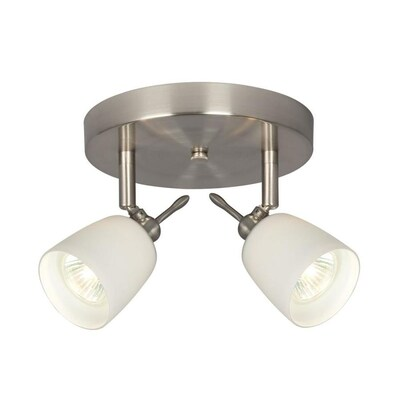 Galaxy Lighting 2 Light 7 In Brushed Nickel Flush Mount
