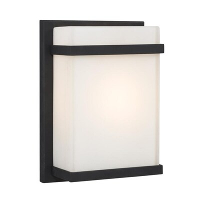 7 5 In W 1 Light Black Modern Contemporary Wall Sconce