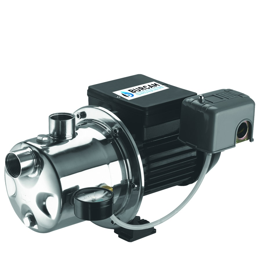 Bur Cam 0 75 Hp Stainless Steel Shallow Well Jet Pump At