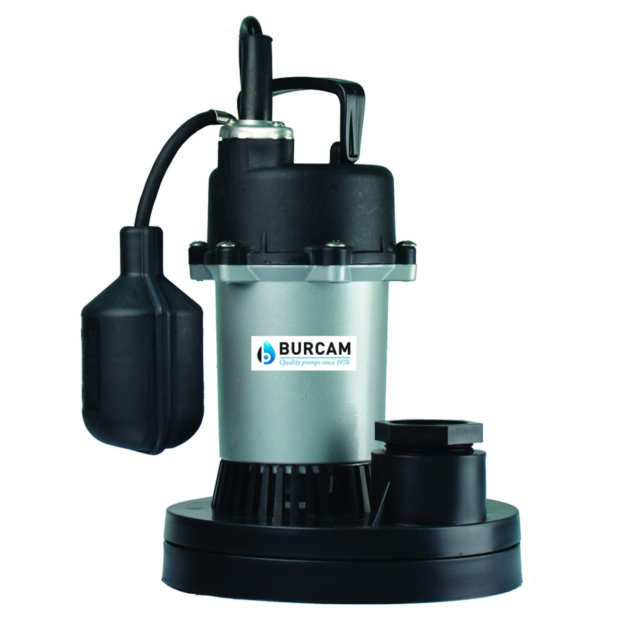 BUR-CAM 0.33-HP Thermoplastic Submersible Sump Pump