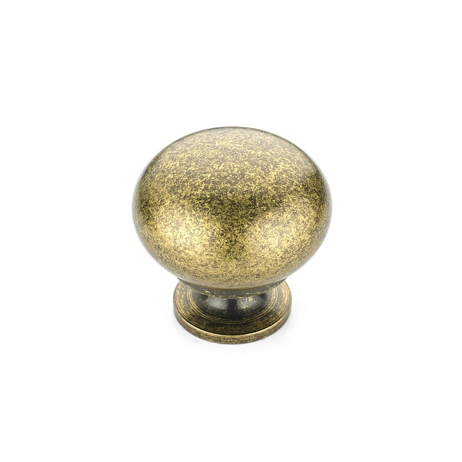 Richelieu Burnished Brass Mushroom Cabinet Knob