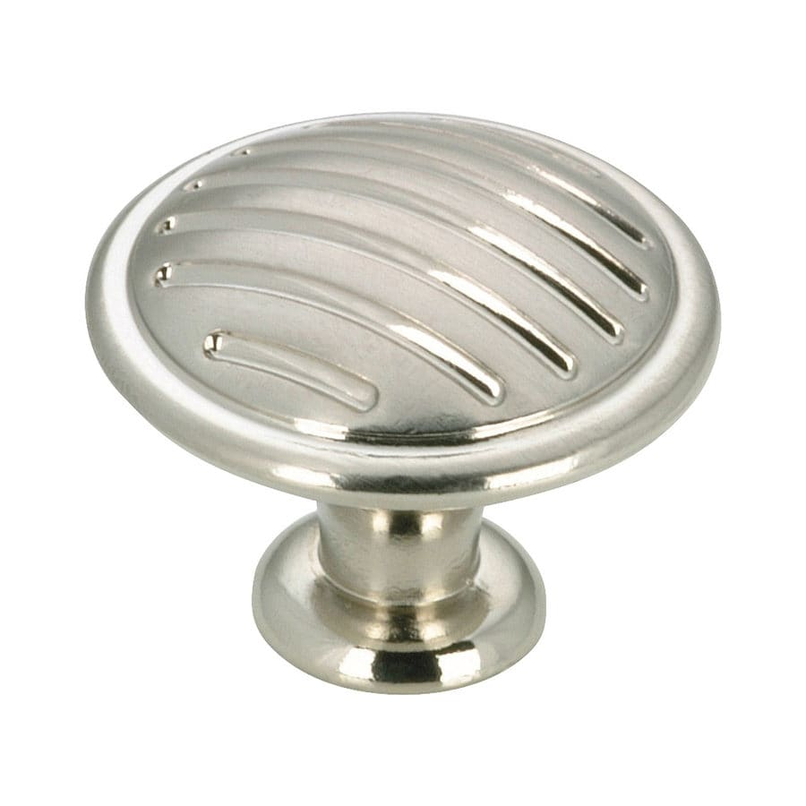 brushed nickel kitchen cabinet knobs shop richelieu brushed nickel cabinet knob at lowes 7967