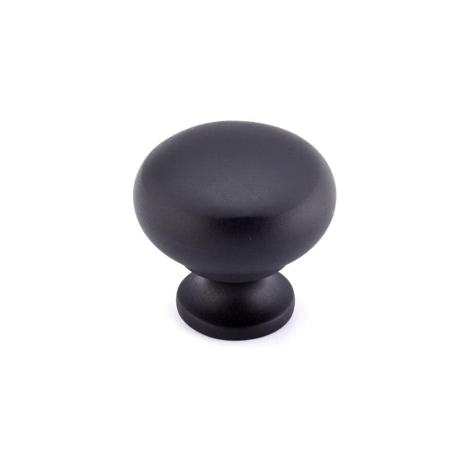 Richelieu Matte Black Mushroom Cabinet Knob