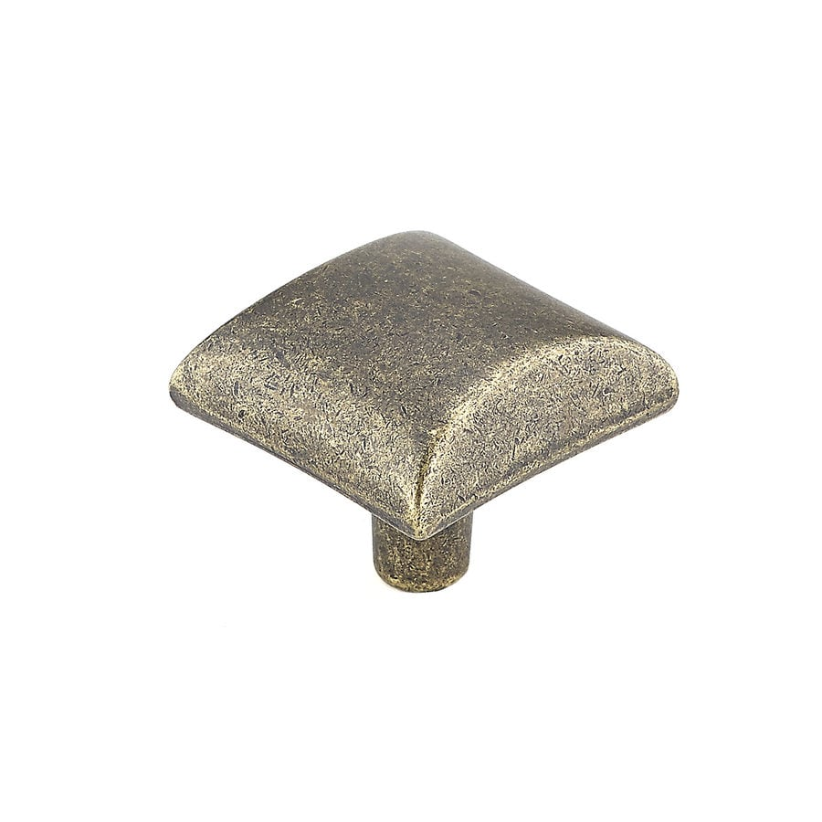 Richelieu Burnished Brass Square Cabinet Knob