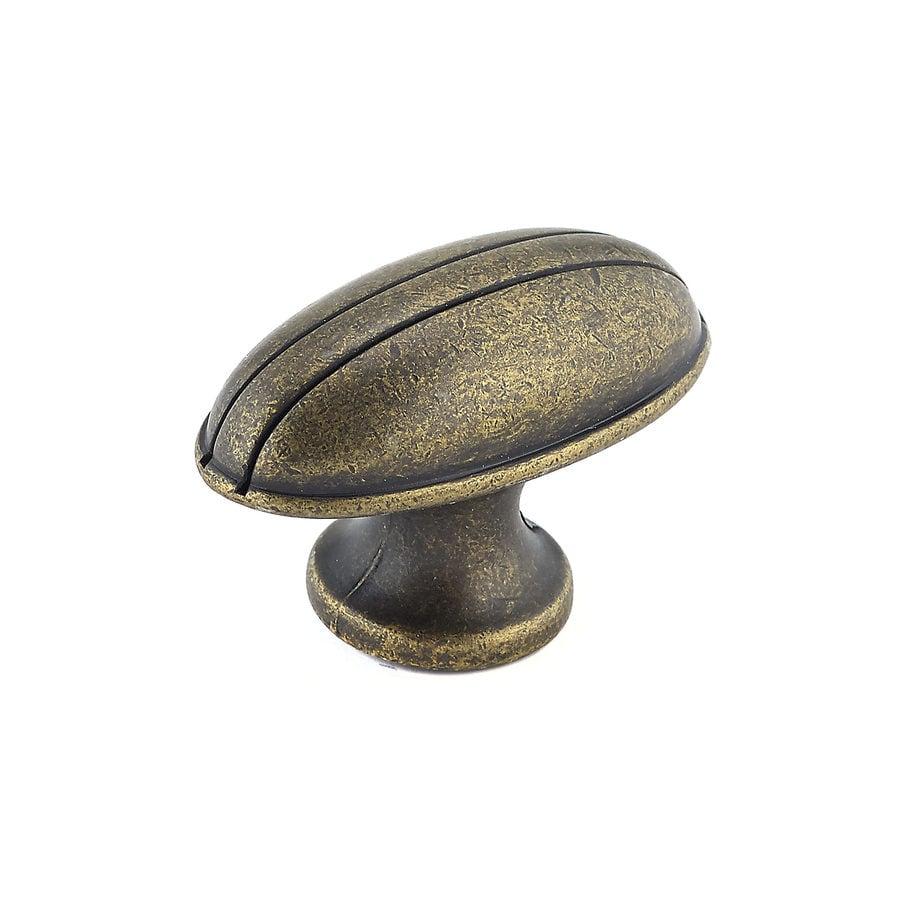 Richelieu Knob Metal 49mm dia. (8/32) Burnished Brass