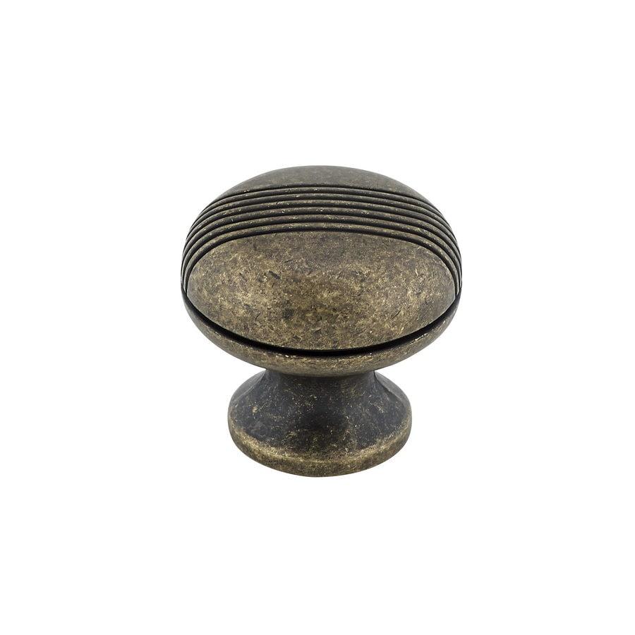 Richelieu Knob Metal 31mm dia. (8/32) Burnished Brass