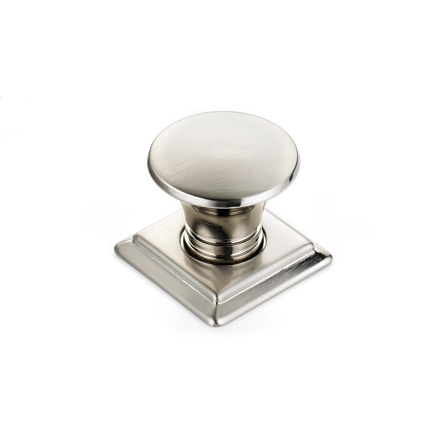Richelieu Knob Metal 32mm dia. (8/32) Brushed Nicked