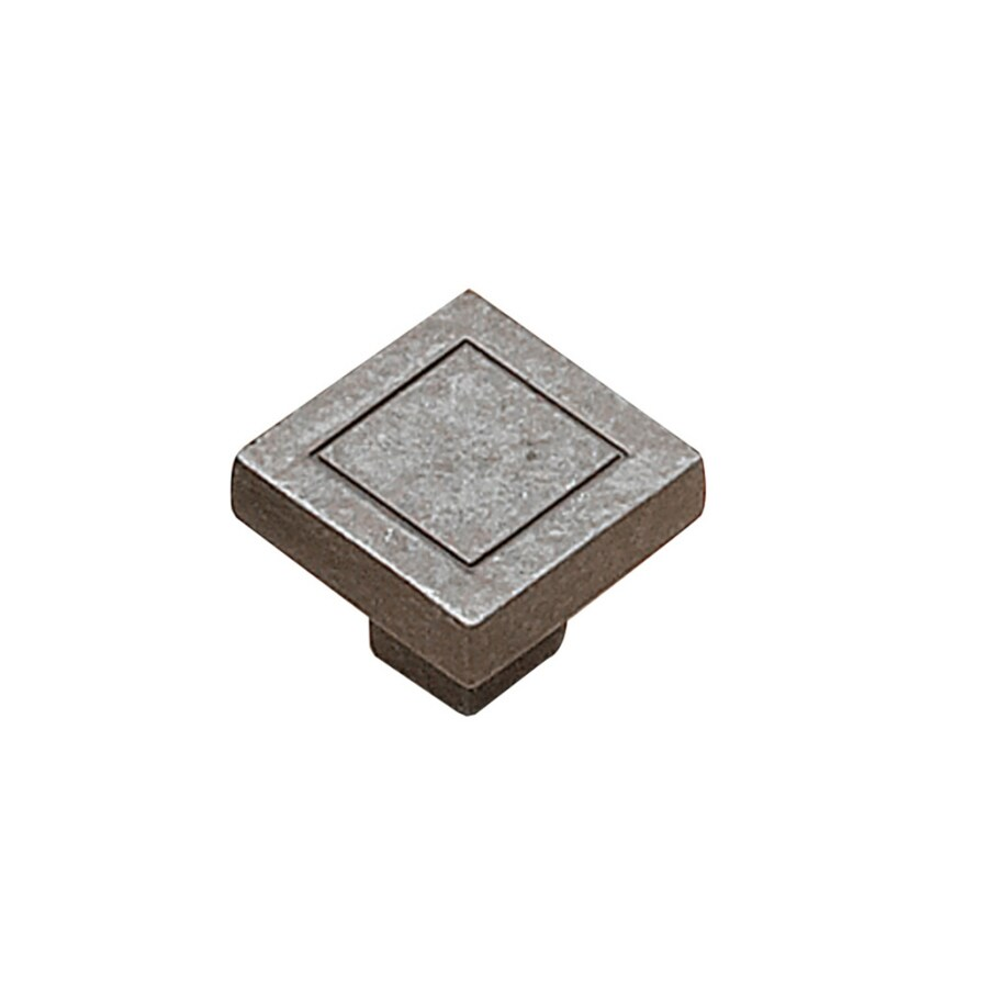 Richelieu Antique Iron Square Cabinet Knob