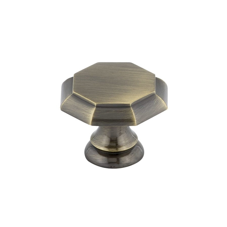 Richelieu Knob Brass 30mm dia. (8/32) Antique English