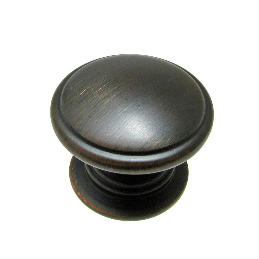 Richelieu Brushed Oil-Rubbed Bronze Round Cabinet Knob