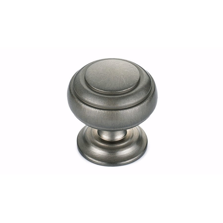 Richelieu Brushed Nickel Round Cabinet Knob