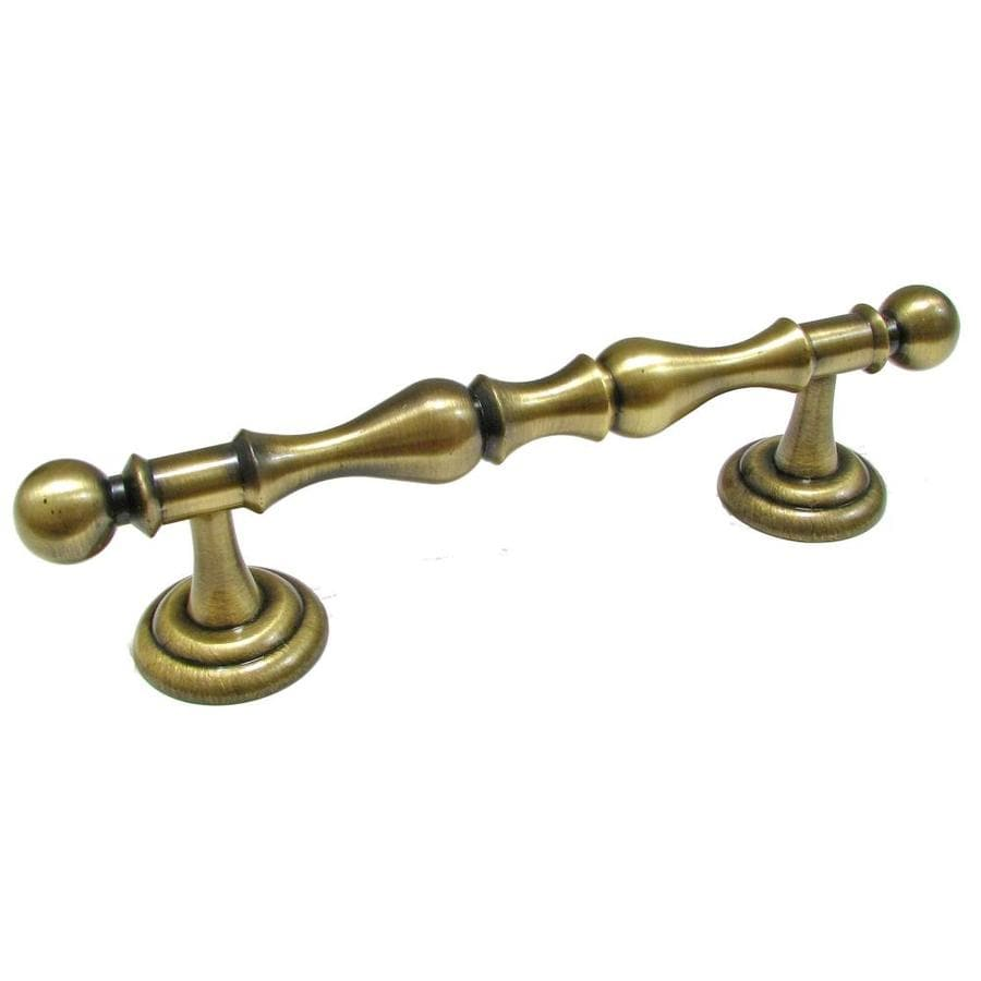Richelieu 4-in Center-To-Center Antique English Bar Cabinet Pull