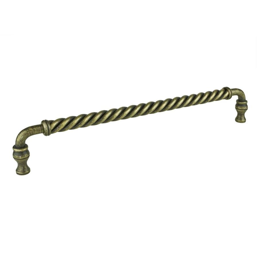 Richelieu 12-in Center-To-Center Burnished Brass Bar Cabinet Pull