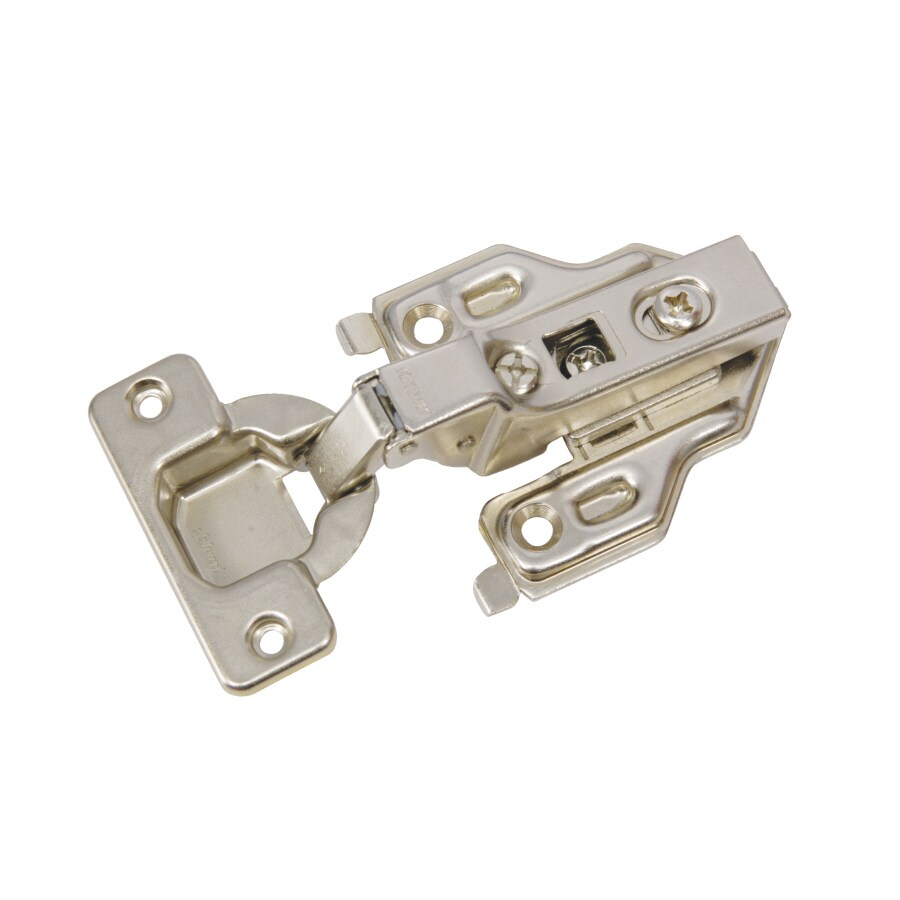 Blum 2-Pack 5-in x 4.50 In. Brushed Nickel Concealed Self-Closing Cabinet Hinges