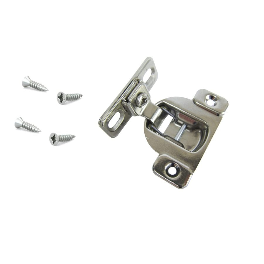 Blum 2-1/2-in x 2-in Satin Nickel Cabinet Hinge