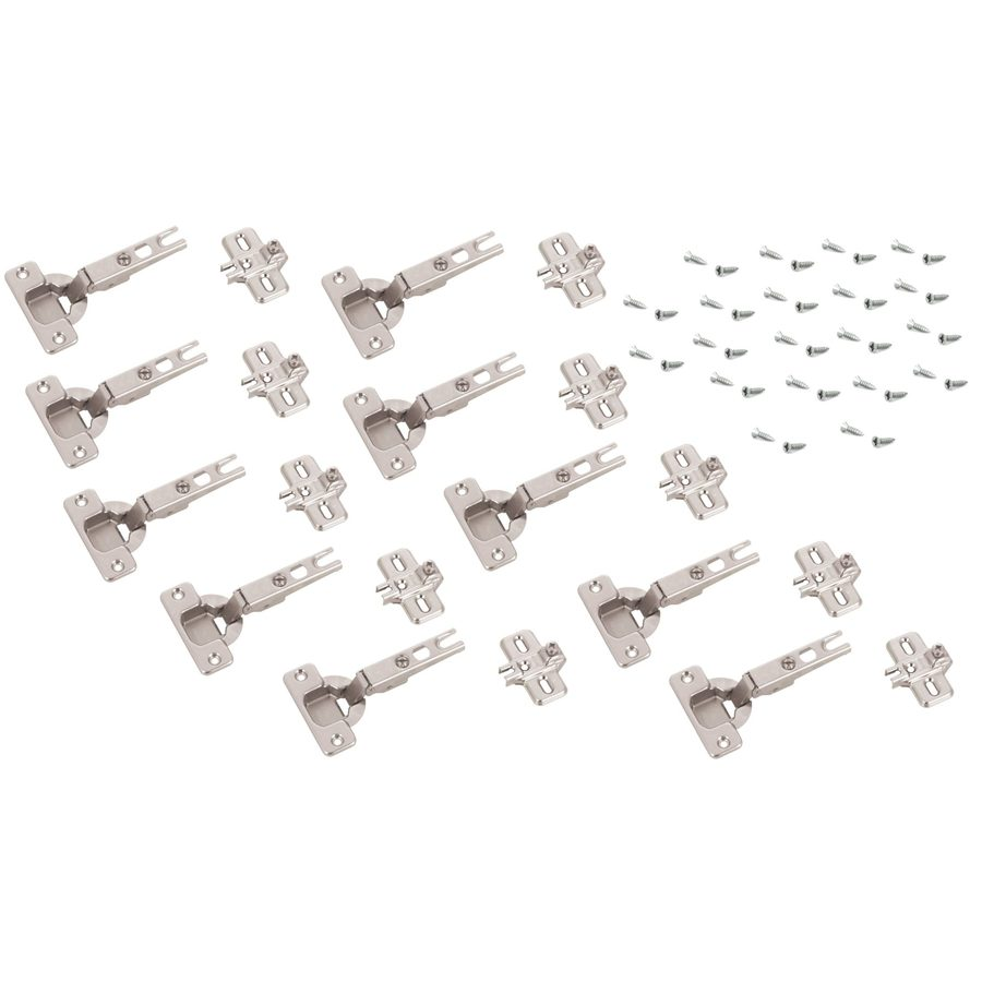 Blum 10-Pack 4-in x 2-1/4-in x 7/8-in Nickel Concealed Self-Closing Cabinet Hinges