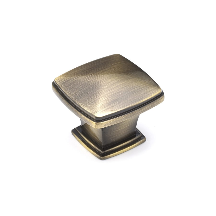 Richelieu Expression Antique English Square Cabinet Knob