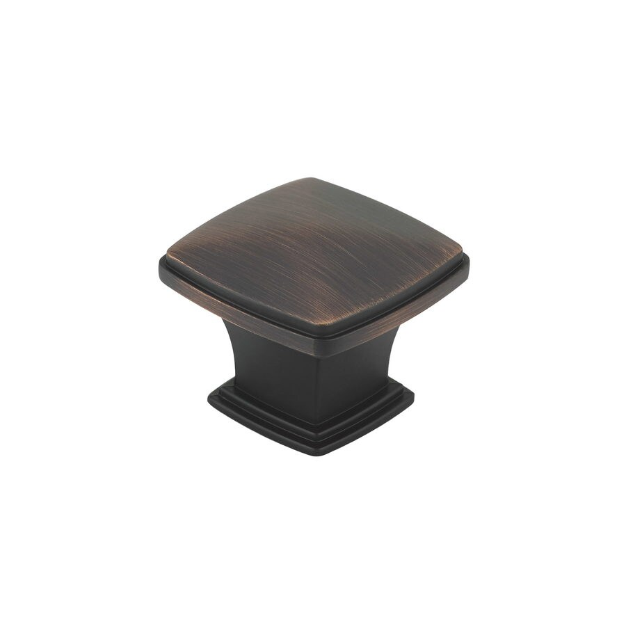 Richelieu Expression Brushed Oil-Rubbed Bronze Square Cabinet Knob