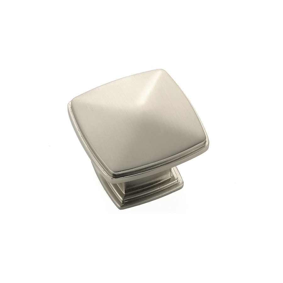 Shop richelieu expression brushed nickel square cabinet for Square kitchen cabinet knobs