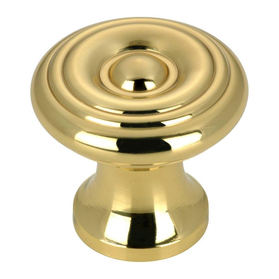 Richelieu Brass Round Cabinet Knob