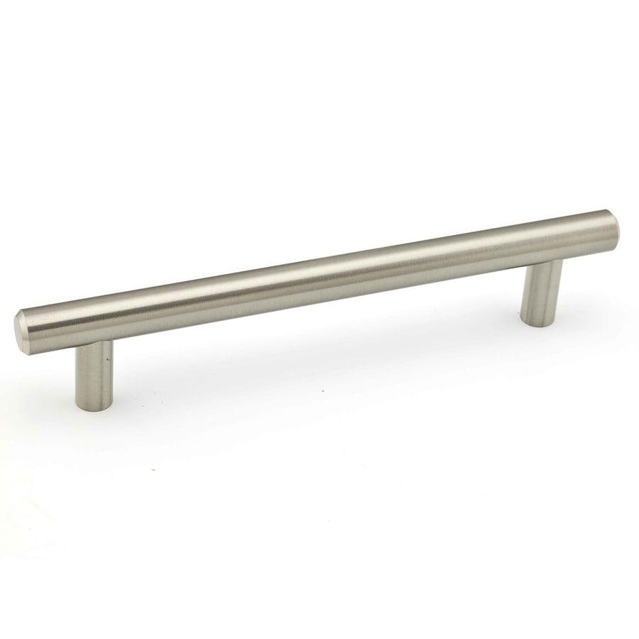 Richelieu 6 1 4 In Center To Brushed Nickel Rectangular Bar Cabinet Pull