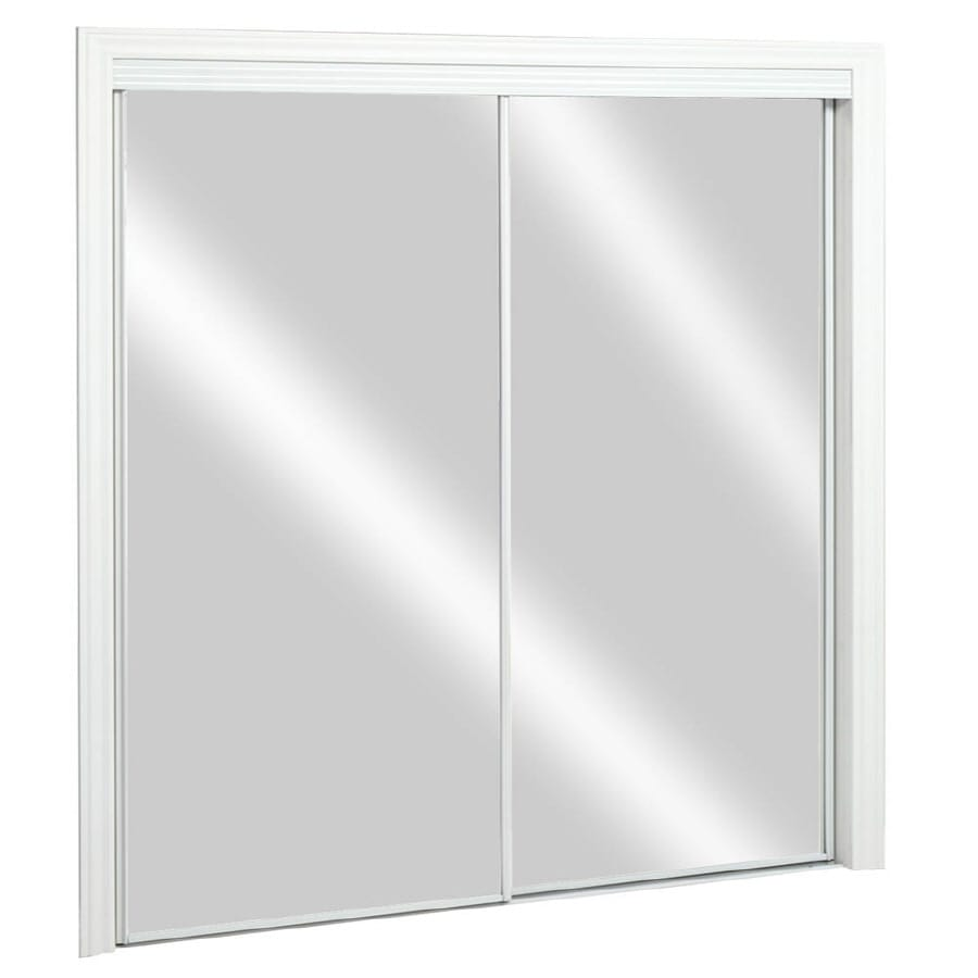 ReliaBilt Flush Mirror Sliding Closet Interior Door (Common: 48-in x 80-in; Actual: 48-in x 78-in)