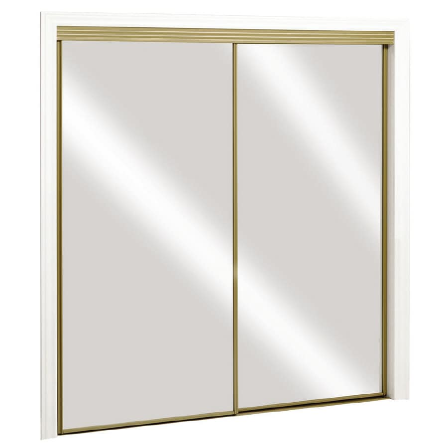 Beau ReliaBilt Mirror Sliding Closet Door With Hardware (Common: 48 In X 80