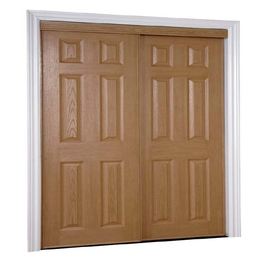 Reliabilt Oak 6 Panel Mirror Sliding Closet Interior Door