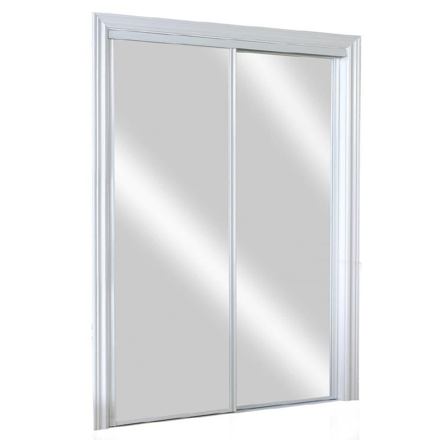 Shop Kingstar Flush Mirror Sliding Closet Interior Door Common 48