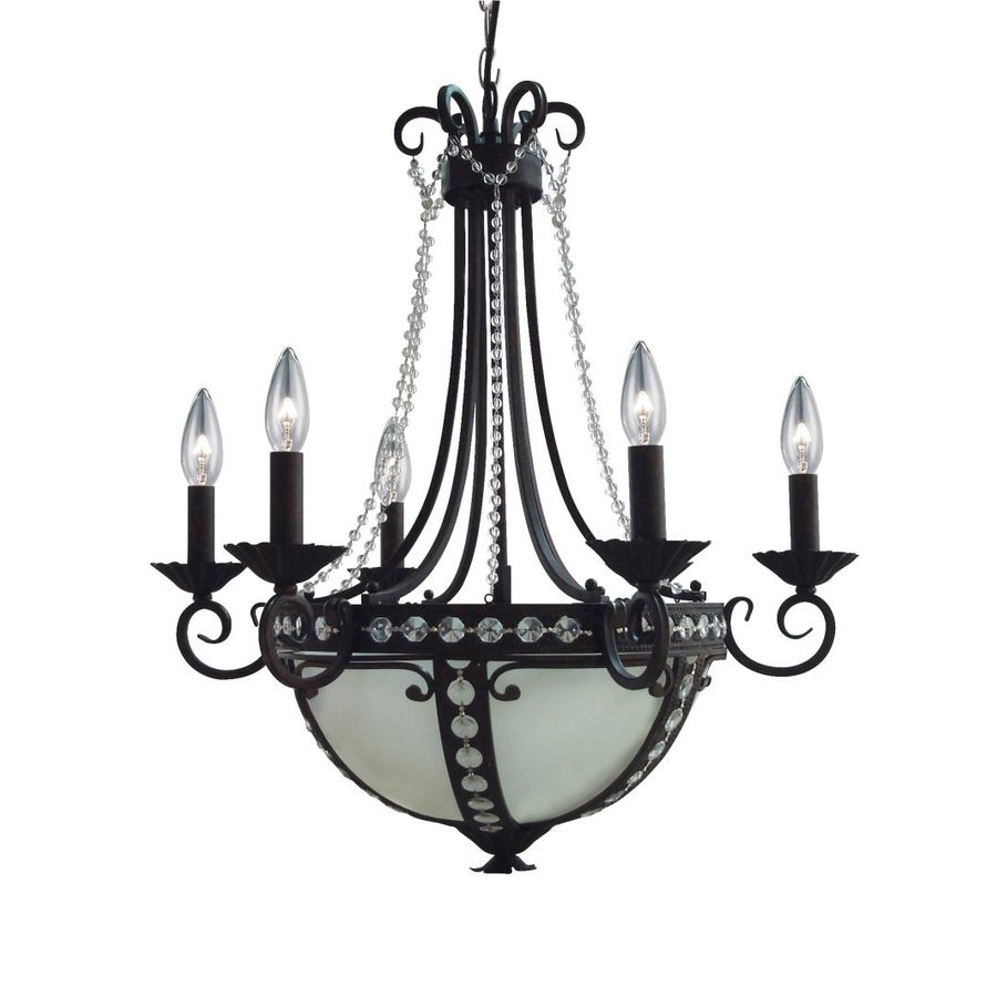 Portfolio 22 5 In 8 Light Oil Rubbed Bronze Marbleized Gl Standard Chandelier