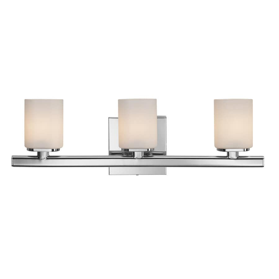 Style Selections 3-Light Marond Chrome Bathroom Vanity Light