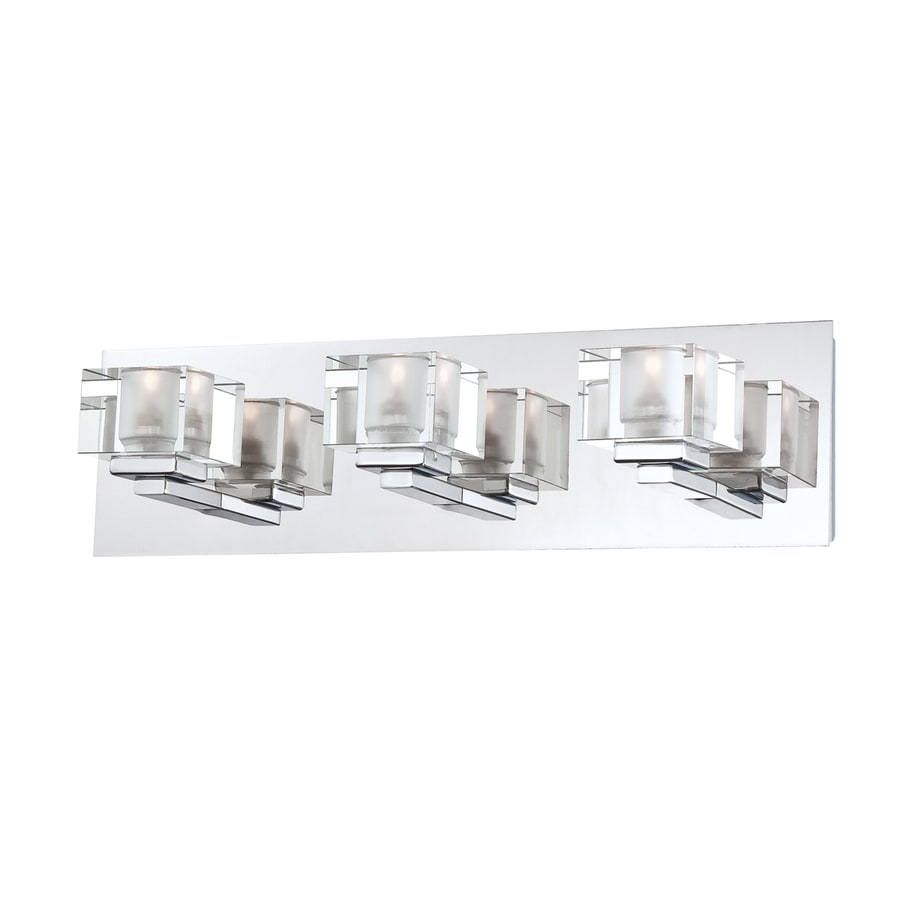 Shop Portfolio Prism 3-Light 4.875-in Chrome Square Vanity Light at Lowes.com