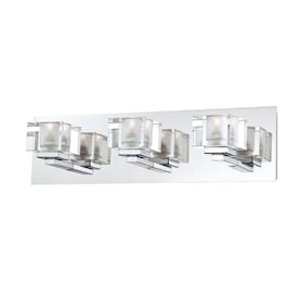 Portfolio Prism 3-Light Chrome Modern/Contemporary Vanity Light