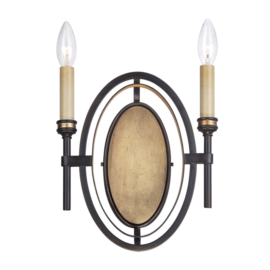 Eurofase Infinity 9.75-in W 2-Light Oil Rubbed Bronze Candle Wall Sconce