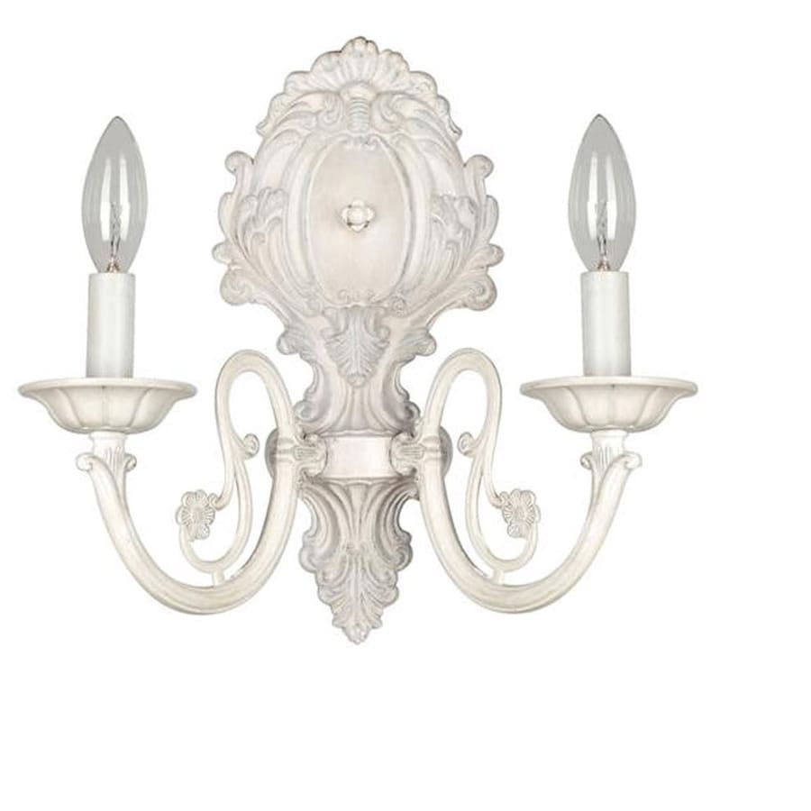 Shop style selections 1163 in w 2 light antique white candle style selections 1163 in w 2 light antique white candle hardwired wall sconce mozeypictures Images