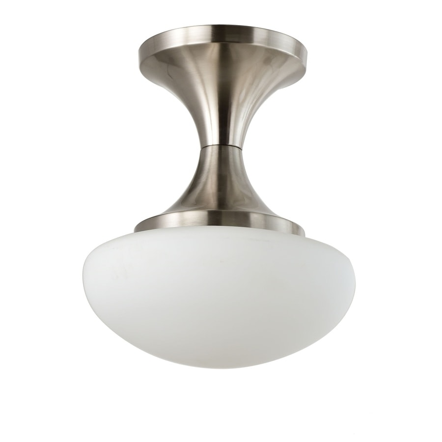 Eurofase 10-in W Brushed Nickel LED Flush Mount Light