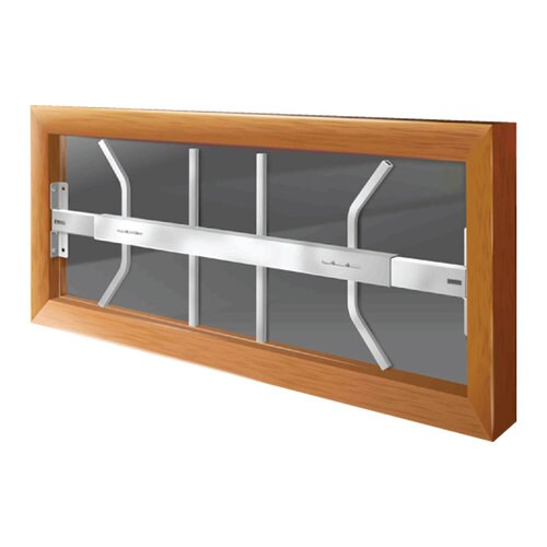 Window Security Bars Lowes >> Mr. Goodbar B 29-in x 12-in White Fixed Window Security ...